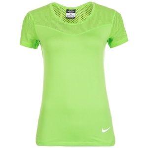 Nike Women's Pro Hypercool Green Shirt Sz M